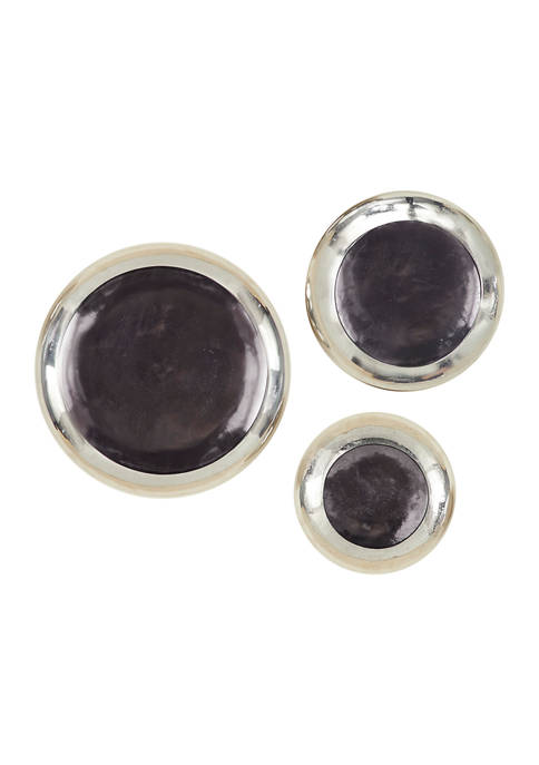Round Metal Plate Wall Décor Set