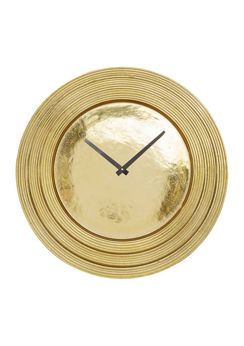 Round Aluminum Layered Rim Wall Clock