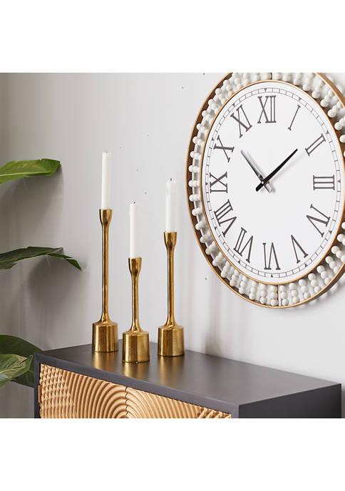 Gold Candle Holder - Set of 3