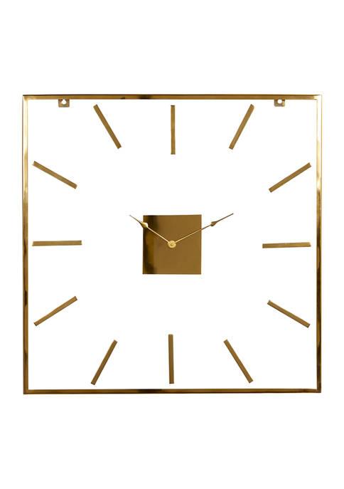 Monroe Lane Extra Large Square Metal Wall Clock