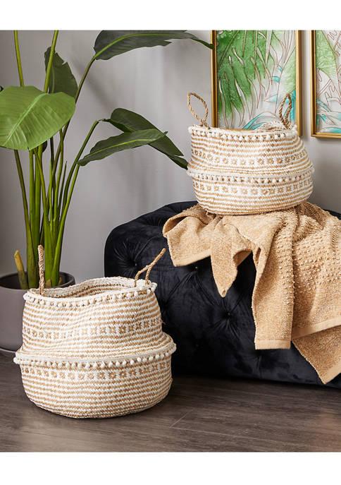 Monroe Lane Wood Natural Storage Basket