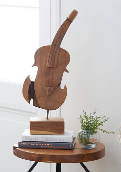 Monroe Lane Teak Wood Natural Abstract Sculpture