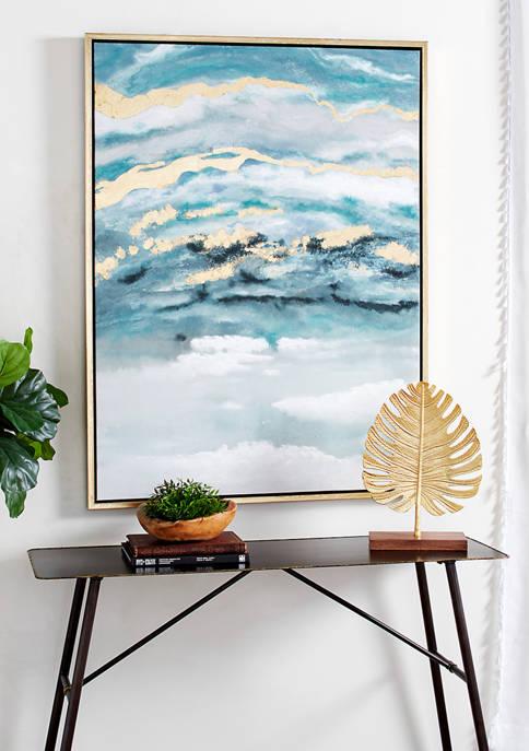 Monroe Lane Polystone Wood Framed Canvas Art