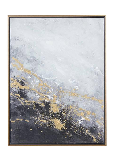 Monroe Lane Rectangular Dark Grey And Gold Foil