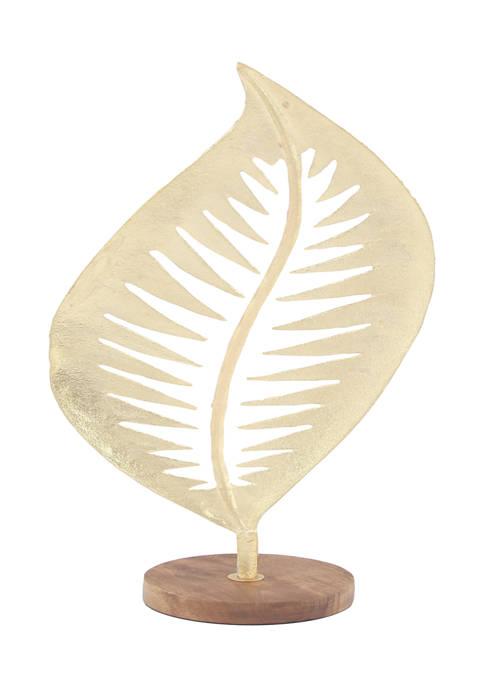 Monroe Lane Aluminum Contemporary Leaf Sculpture