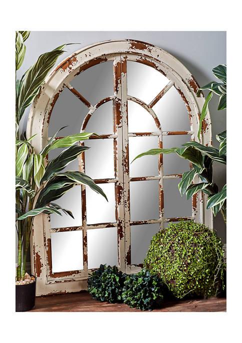 Farmhouse Classic Arched Window Decorative Wall Mirror