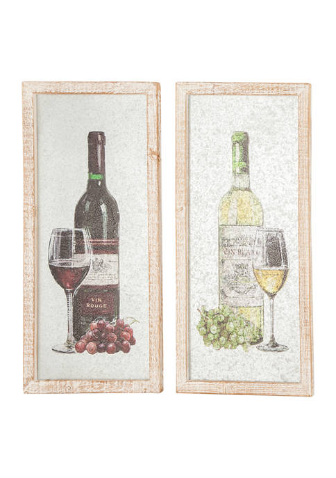 Monroe Lane Vintage Wine Bottle with Glass and
