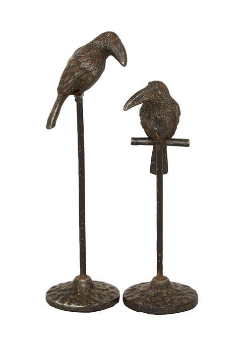 Monroe Lane Set of 2 Metal Traditional Birds
