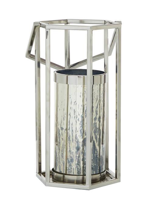 Monroe Lane Silver Stainless Steel Contemporary Lantern