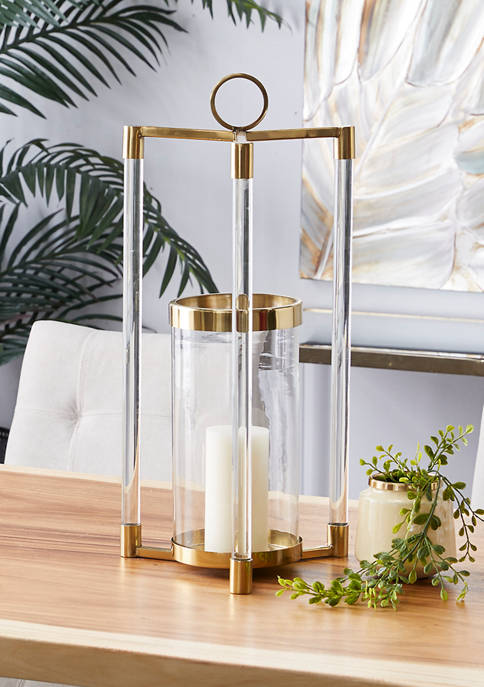 Monroe Lane Gold Stainless Steel Contemporary Lantern