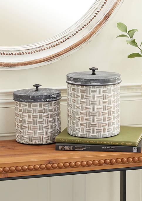 Monroe Lane Metal Farmhouse Decorative Jars