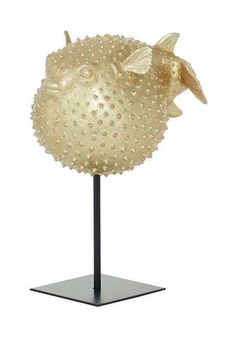 Monroe Lane Gold Polyresin Coastal Fish Sculpture