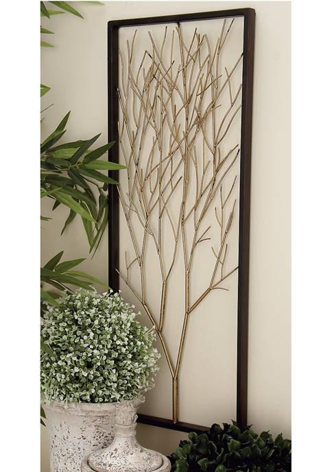 Monroe Lane Modern Metal Triptych Tree Wall Décor