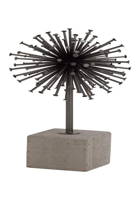Monroe Lane Industrial Metal Radial Sphere Sculpture