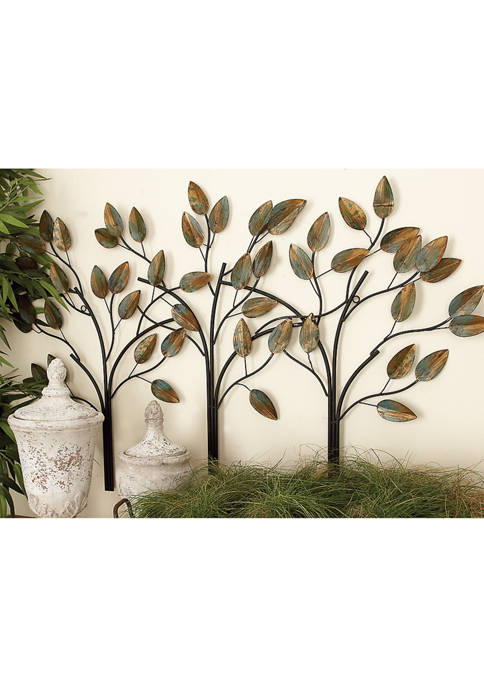 Three Tree Leaf Décor