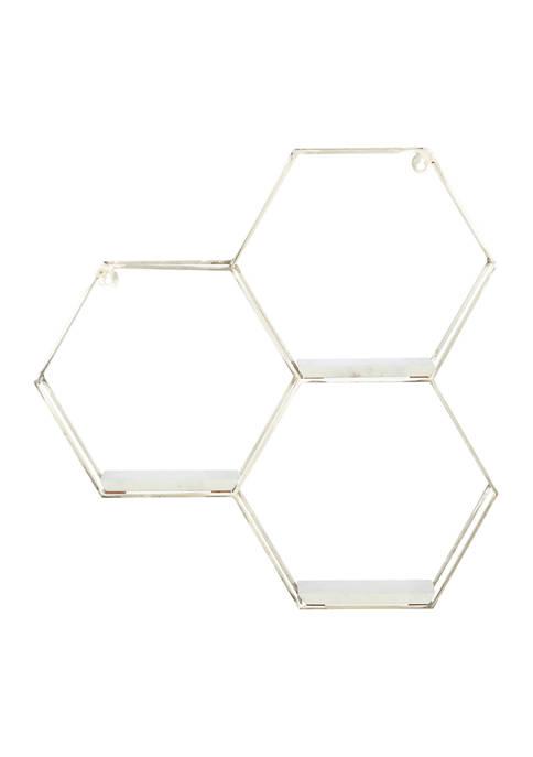 Large Hexagon Honeycomb Wall Shelf