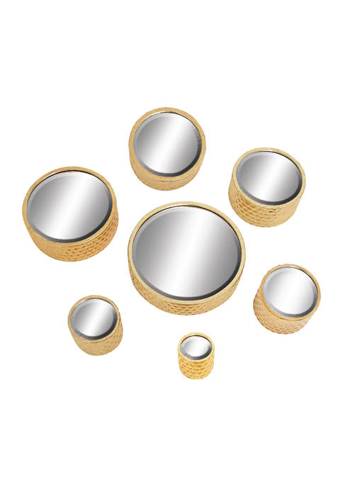 Monroe Lane Set of 7 Small, Round Metallic