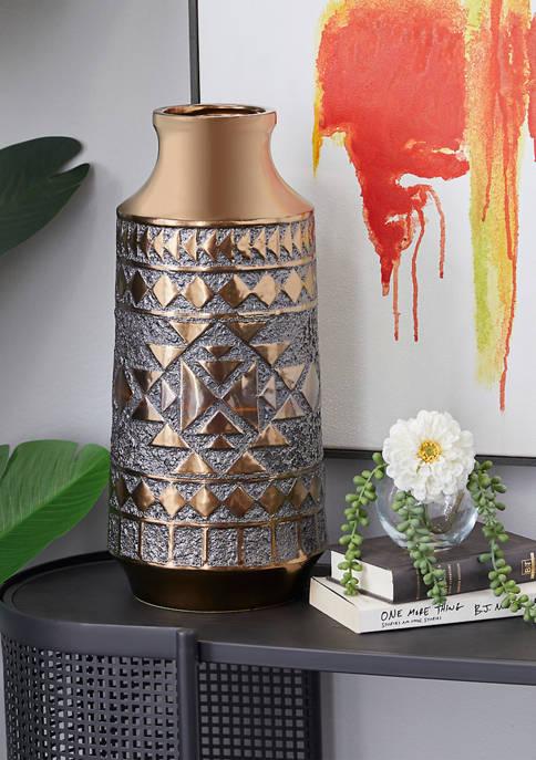 Monroe Lane Gold Porcelain Contemporary Vase