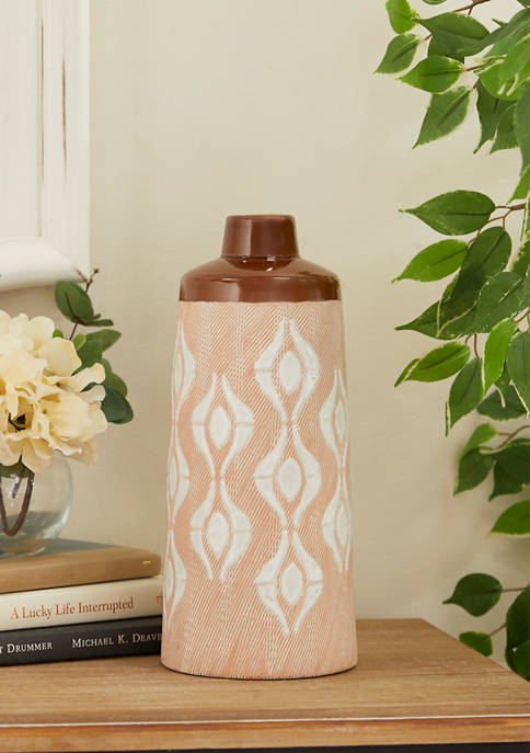 Monroe Lane Tan Porcelain Traditional Vase