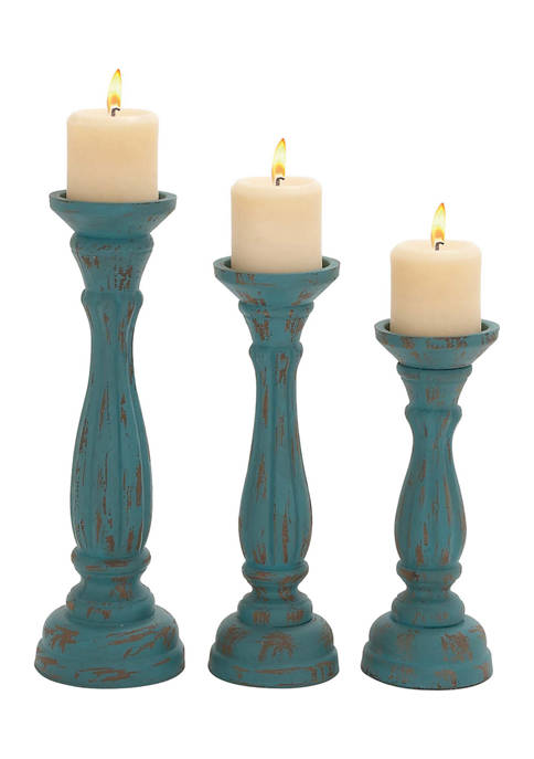 Monroe Lane Distressed Candle Holder