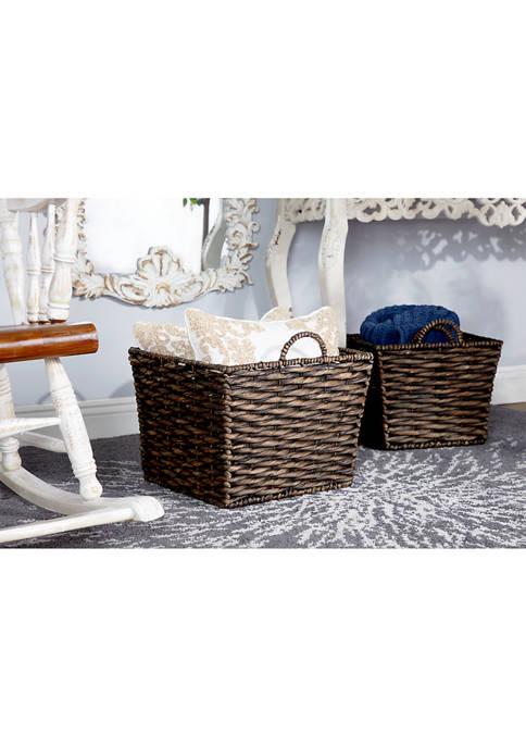 Monroe Lane Framed Wicker Basket