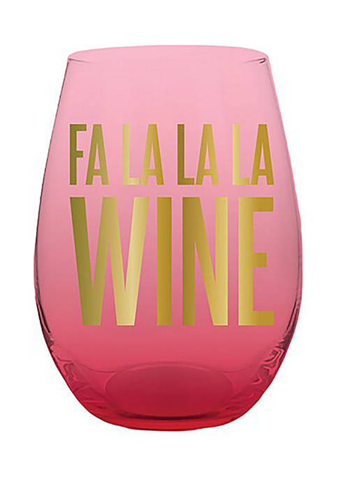 Creative Brands 20 Ounce Stemless FaLaLa Wine Glass