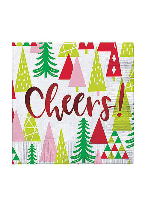 20 Count 5 Inch Cheers with Trees Napkins