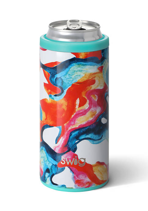 12 Ounce Skinny Can Cooler- Colo Swirl