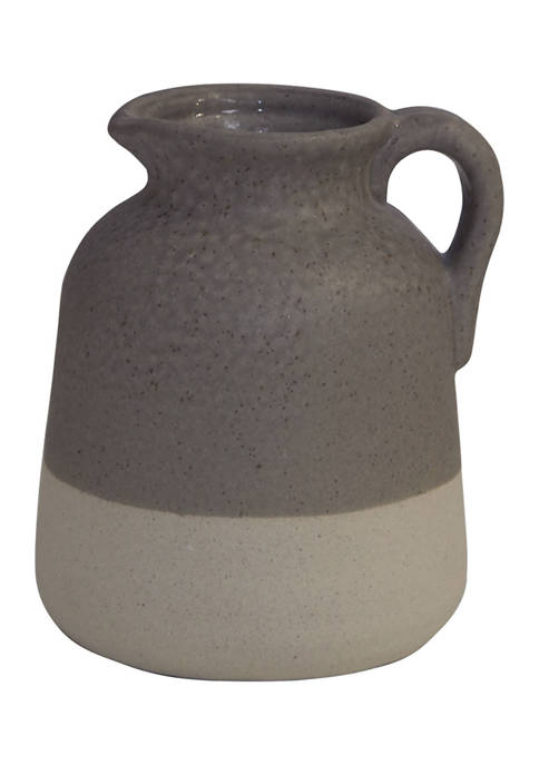 Erica Lyons Taupe Decorative Pitcher/Vase