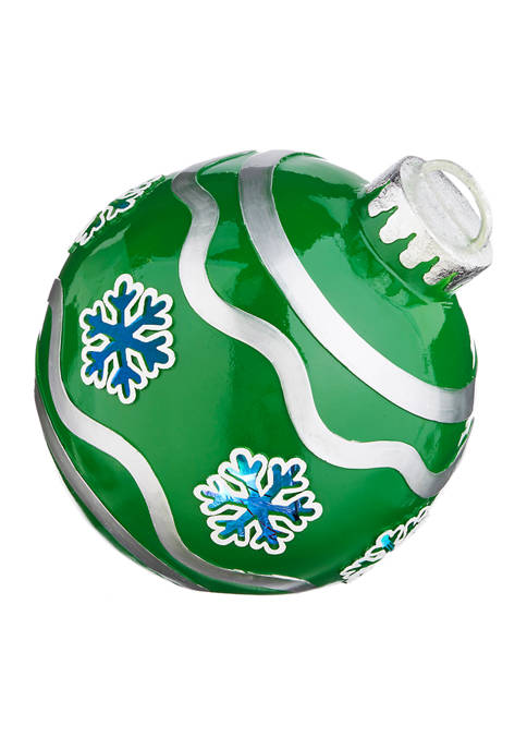 RAZ Imports Inc. Green Snowflake Ornament