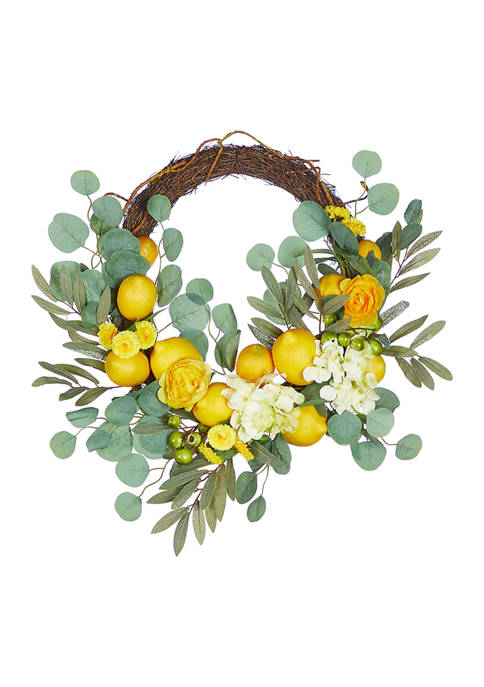 Mixed Lemon Wreath