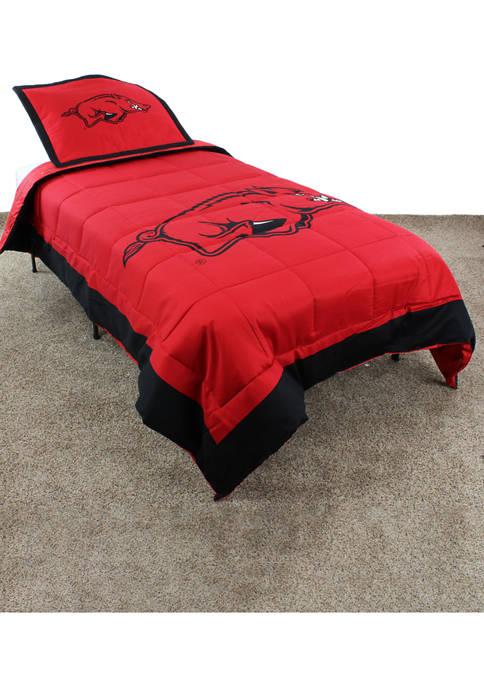 NCAA Arkansas Razorbacks Reversible Comforter Set