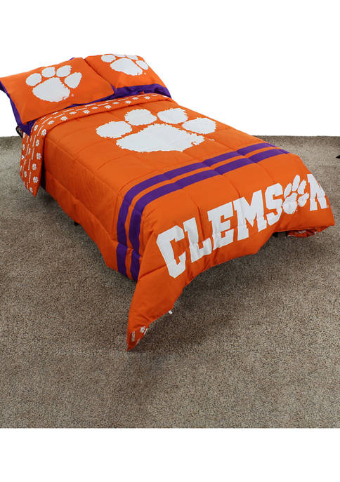 NCAA Clemson Tigers Reversible Comforter Set
