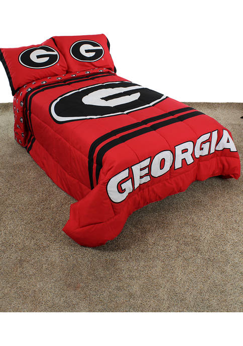 College Covers NCAA Georgia Bulldogs Reversible Comforter Set