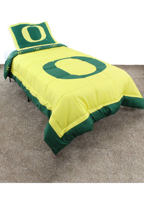 College Covers NCAA Oregon Ducks Reversible Comforter Set