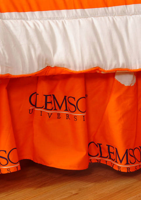 NCAA Clemson Tigers Printed Dust Ruffle