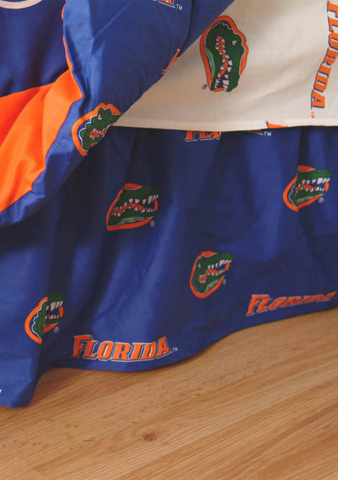 College Covers NCAA Florida Gators Printed Dust Ruffle