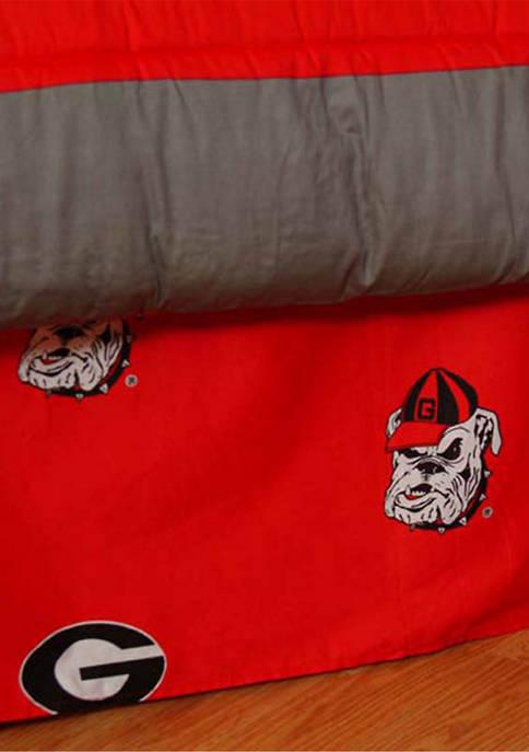 College Covers NCAA Georgia Bulldogs Printed Dust Ruffle