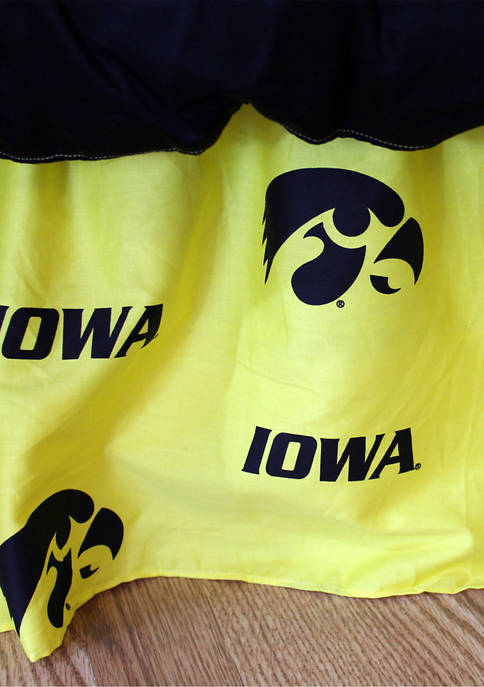 College Covers NCAA Iowa Hawkeyes Printed Dust Ruffle