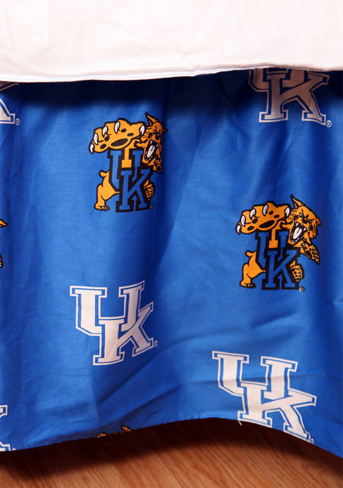 College Covers NCAA Kentucky Wildcats Printed Dust Ruffle