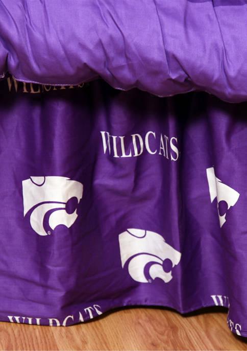 NCAA Kansas State Wildcats Printed Dust Ruffle