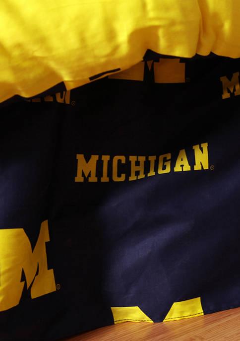 NCAA Michigan Wolverines Printed Dust Ruffle