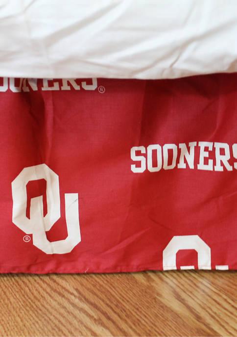 College Covers NCAA Oklahoma Sooners Printed Dust Ruffle