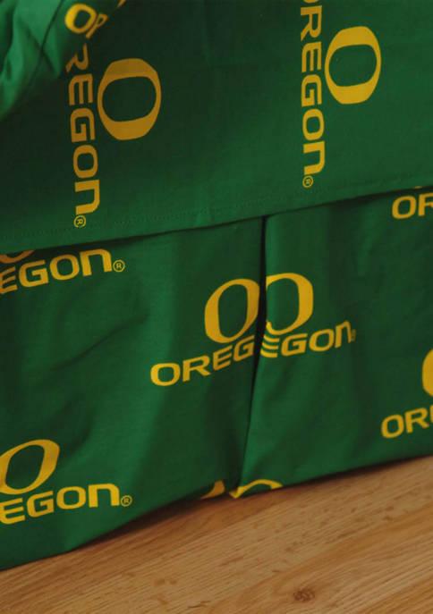 NCAA Oregon Ducks Printed Dust Ruffle