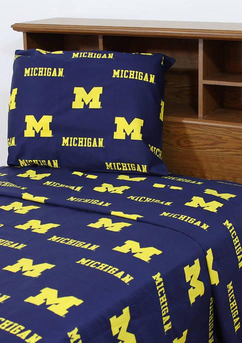 NCAA Michigan Wolverines Sheet Set