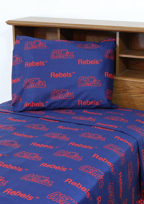 College Covers NCAA Ole Miss Rebels Sheet Set