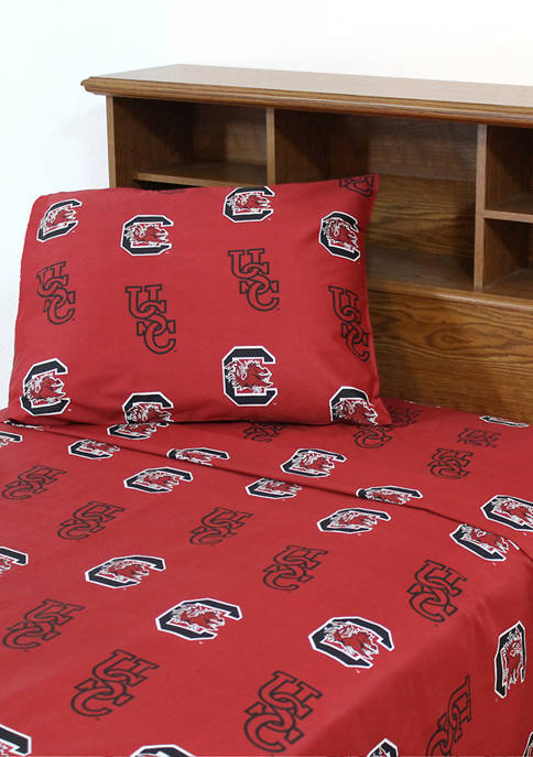 College Covers NCAA South Carolina Gamecocks Sheet Set
