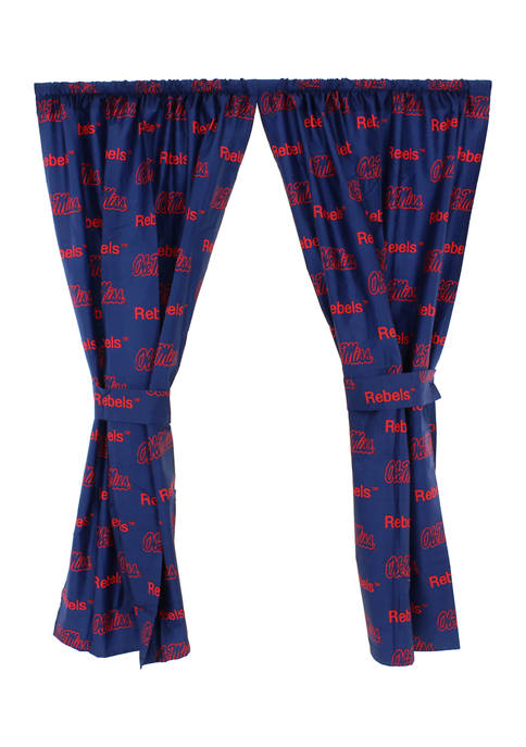 College Covers NCAA Ole Miss Rebels Printed Curtain