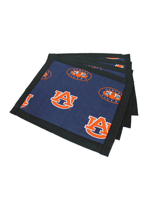 NCAA Auburn Tigers Set of 4 Placemats