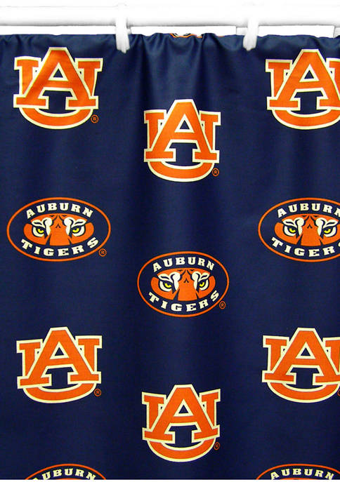 College Covers NCAA Auburn Tigers Printed Shower Curtain